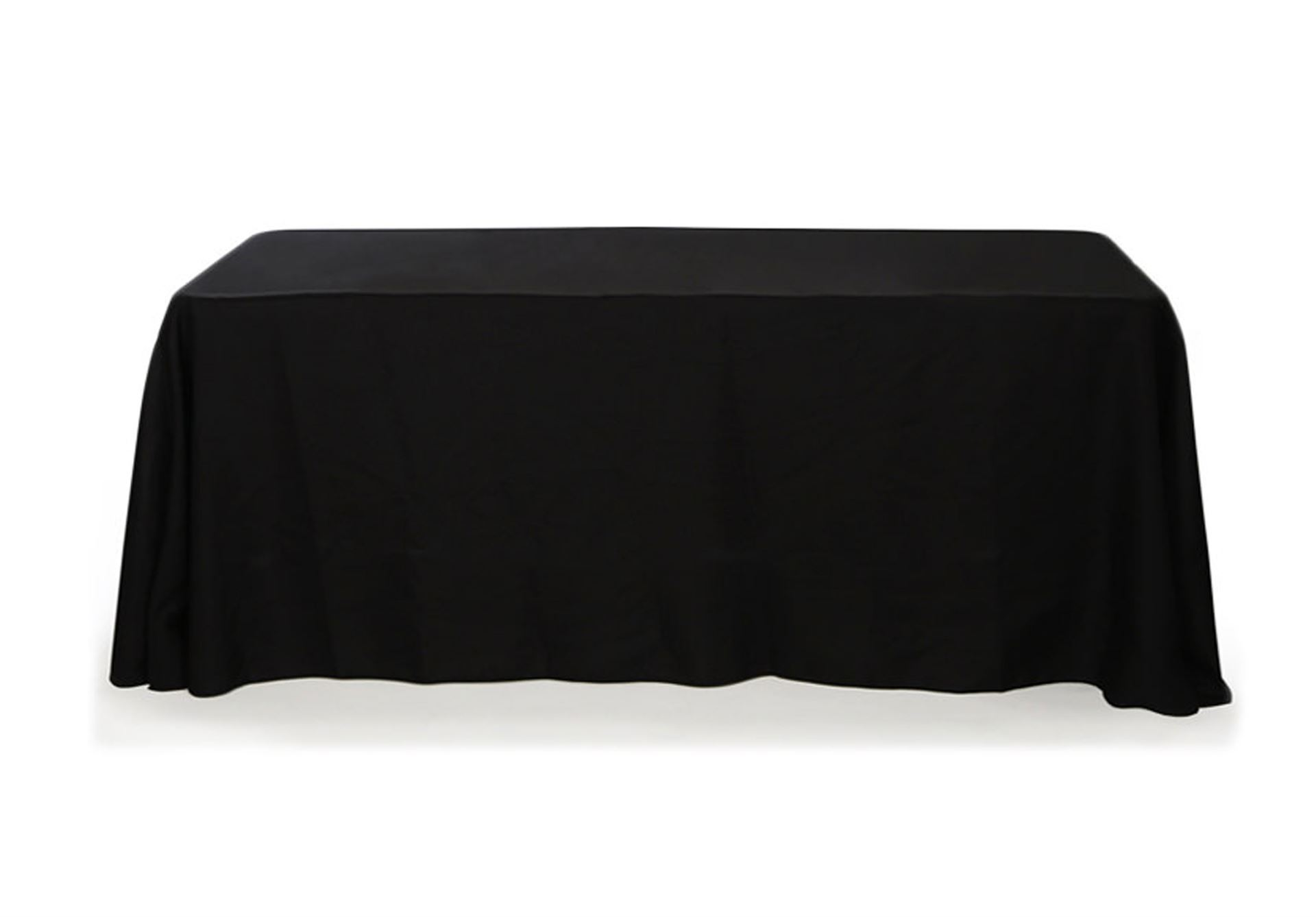 "Black linen table cloth (for trestle table - 70 X 144"")"