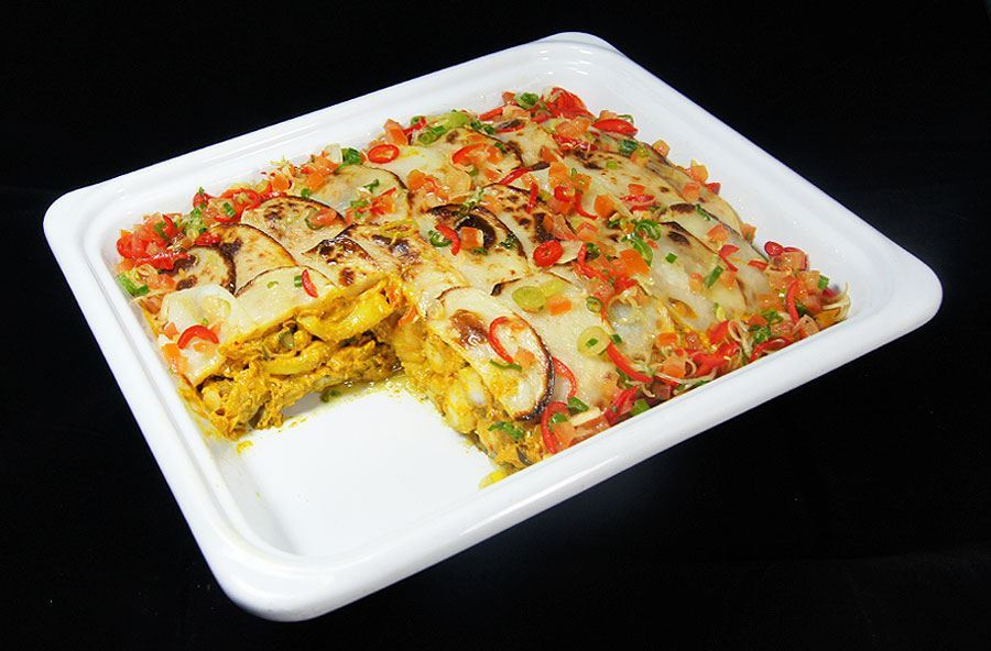 Indian spiced fish pie and rice (serves 8 people)