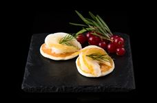 Smoked halibut blinis with dill and cream cheese (2)