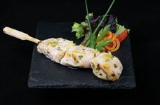 Lemon and honey chicken skewer
