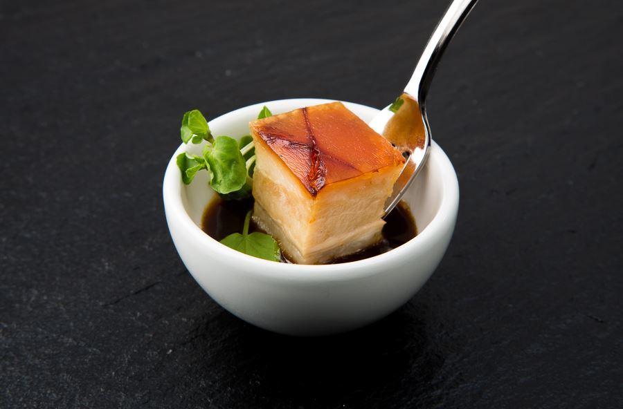 Chinese pork belly canapé