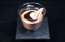 Chocolate mousse pot