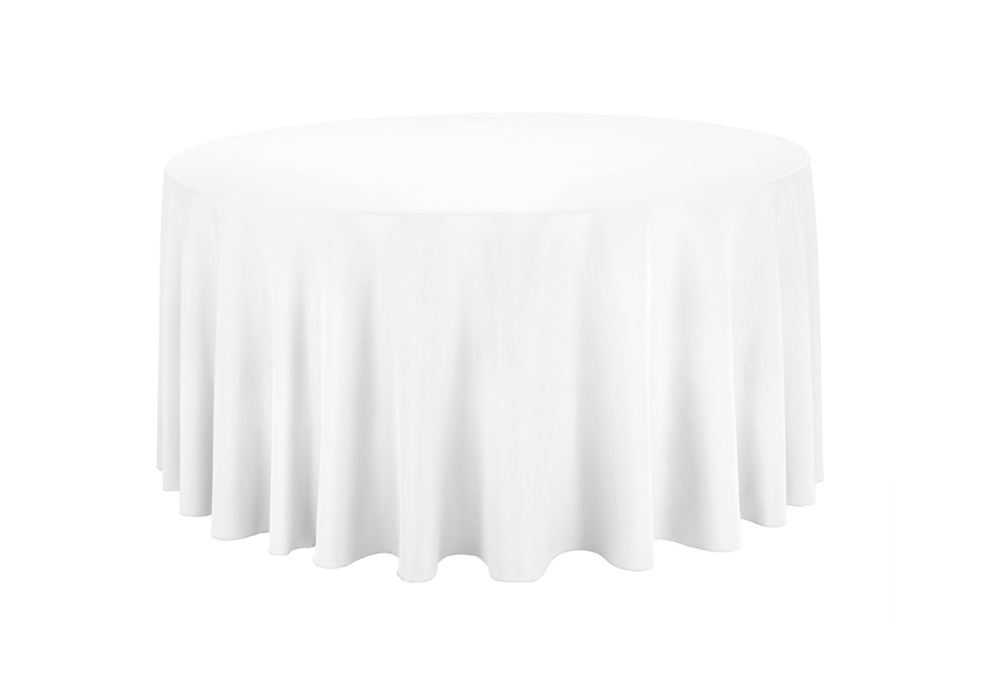 "White linen table cloth (130"" - for 6 foot round table)"