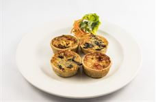 Afternoon Tea selection of vegetarian quiches (4)