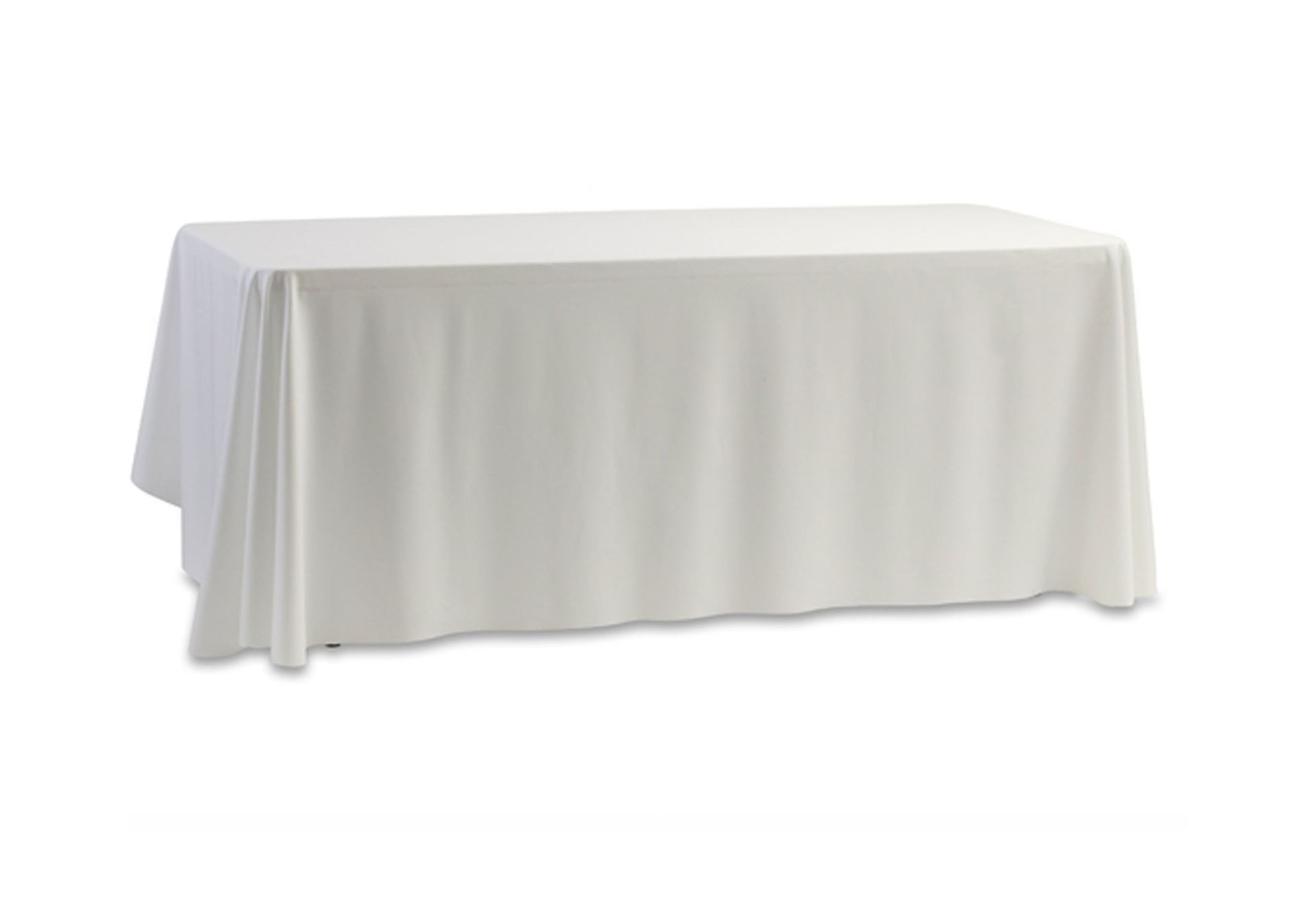 "White linen table cloth (for trestle table - 70 X 144"")"