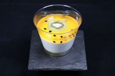 Berkeley passion fruit and kiwi mousse